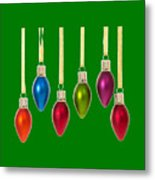 Christmas Baubles Tee Metal Print