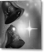 Christmas Bells In Black And White Metal Print