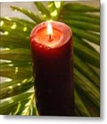 Christmas Candle 2 Metal Print