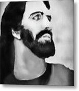 Christmas Card - Jesus Metal Print
