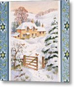 Christmas Cottage Metal Print