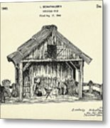 Christmas Crib-1940 Metal Print