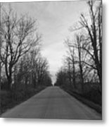 Christmas Day Country Road Metal Print