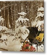 Christmas Delivery Metal Print