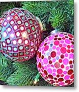 Christmas Dots No. 1-1 Metal Print