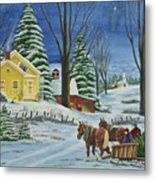 Christmas Eve In The Country Metal Print