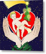 Christmas Eve- Nativity Metal Print