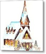 Christmas Eve Metal Print by Rosemary Babikan