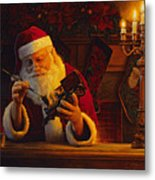 Christmas Eve Touch Up Metal Print by Greg Olsen
