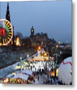 Christmas Fair Edinburgh Scotland Metal Print