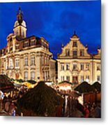 Christmas Fair In Front Of Town Hall Metal Print