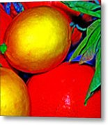 Christmas Fruit Metal Print
