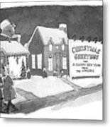 Christmas Greetings From The Applebys Metal Print