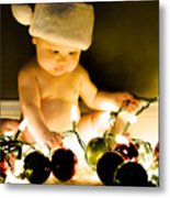 Christmas In A Baby's Eyes Metal Print