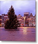 Christmas In Amsterdam The Netherlands Metal Print