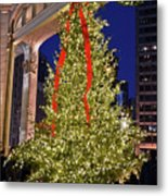 Christmas In Chicago Metal Print
