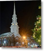 Christmas In Market Square Metal Print