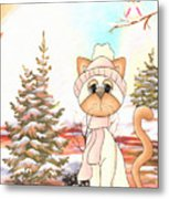 Christmas In The Forest Metal Print