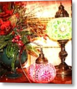 Christmas Lamps Metal Print