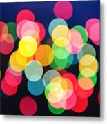 Christmas Lights Abstract Metal Print by Elena Elisseeva