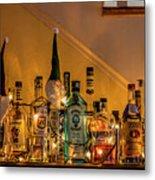 Christmas Lights And Bottles 4197t Metal Print
