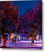Christmas Lights At Locomotive Park Metal Print