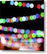 Christmas Lights Bokeh Blur Metal Print
