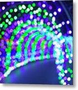Christmas Lights Decoration Blurred Defocused Bokeh Metal Print