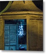 Christmas Lights In Gazebo Metal Print