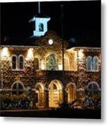 Christmas Lights In Sonoma, California Metal Print