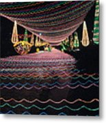 Christmas Lights Over The River Metal Print