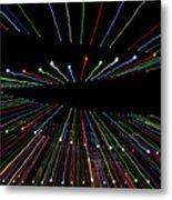 Christmas Lights Zoom Blur Metal Print