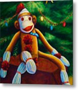 Christmas Made Of Sockies Metal Print