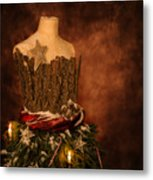 Christmas Mannequin Metal Print