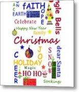 Christmas Message  -  Typography Metal Print