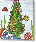 Christmas Of The Sea Tree Metal Print