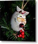 Christmas Owl Metal Print