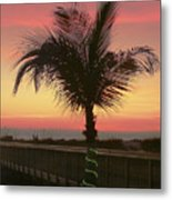 Christmas Palm Metal Print
