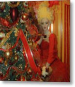 Christmas Parlor Fashions For Evergreens Event Hotel Roanoke 2009 Metal Print