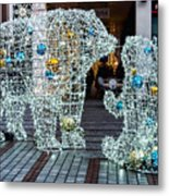 Christmas Polar Bears Metal Print