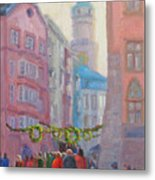 Christmas Shopping - Innsbruck Metal Print