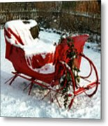 Christmas Sleigh Metal Print by Andrew Fare