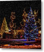 Christmas Snow Storm In Big Bear Metal Print