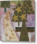 Christmas Stroll Card Metal Print
