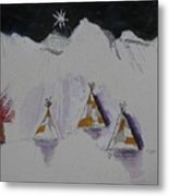Christmas Teepees Metal Print by James SheppardIII