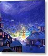 Christmas Town Metal Print by Philip Straub