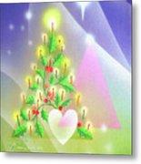 Christmas Tree And Colors Metal Print
