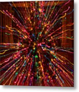 Christmas Tree Colorful Abstract Metal Print