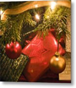 Christmas Tree Decorations And Gifts Metal Print