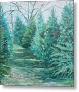 Christmas Tree Lot Metal Print